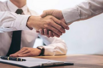 shaking hand for loan approval